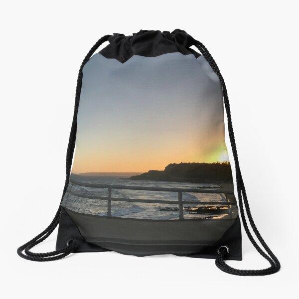 Beaches-Sunset  Drawstring Bag