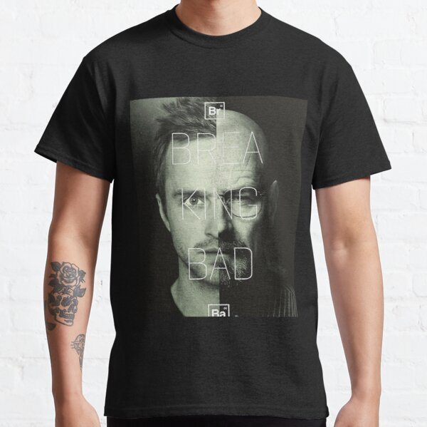 jessie y Heisenberg medio enfrentados en Breaking Bad Camiseta clásica