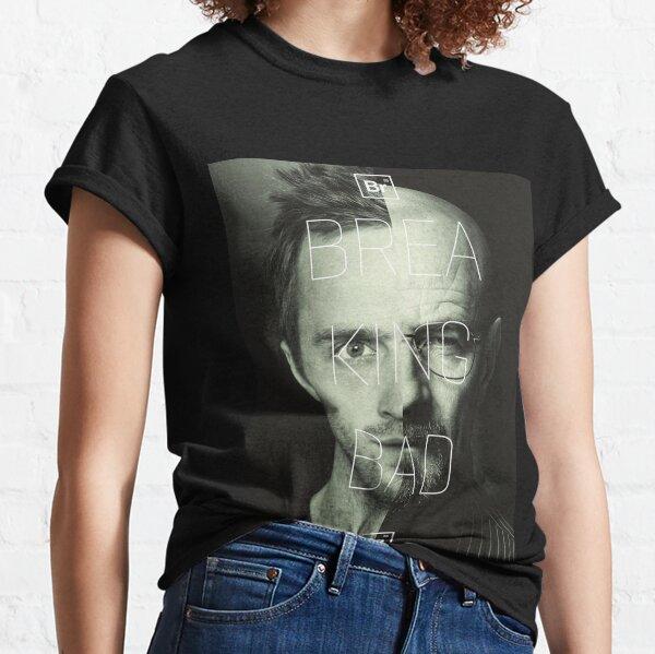 jessie & Heisenberg half faced in Breaking Bad  Classic T-Shirt