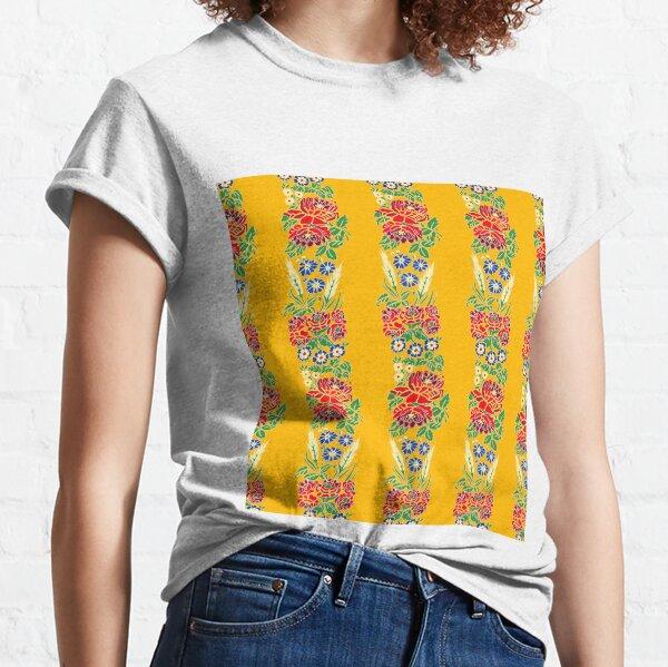 Slavic folklore ribbons, yellow, large pattern Classic T-Shirt