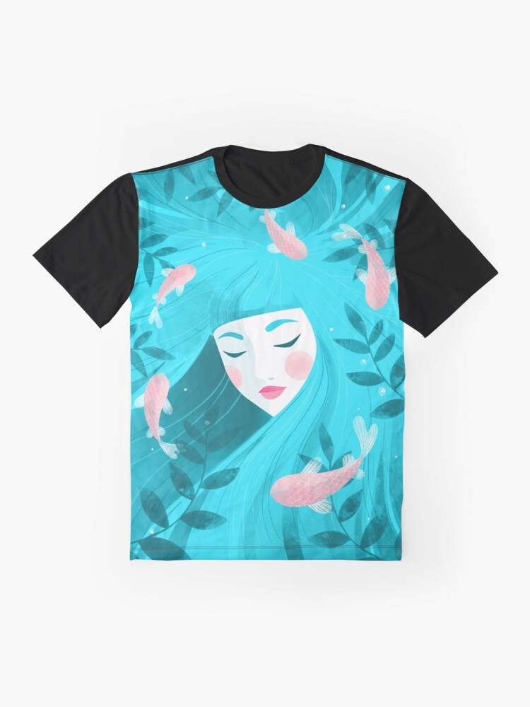 Alternate view of Lost in the sea of my thoughts Graphic T-Shirt