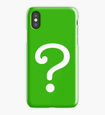 Question Mark - style 3 iPhone Case