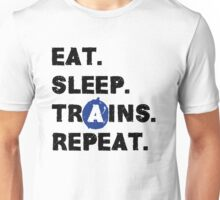 Eat. Sleep. Trains. Repeat. Unisex T-Shirt