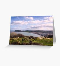 View from Pen Dinas on top of Great Orme Greeting Card