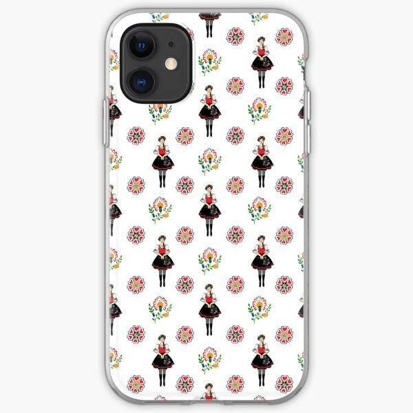 Klara from Moravia with Folklore motifs, large pattern iPhone Soft Case