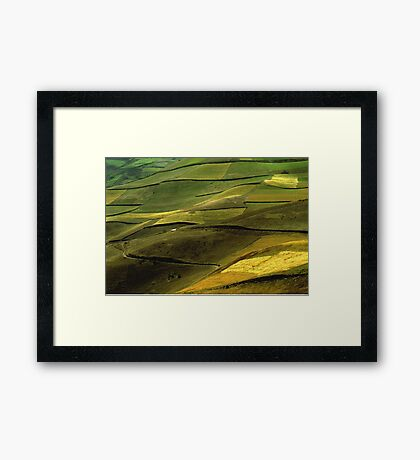Fields in the Andes Framed Print