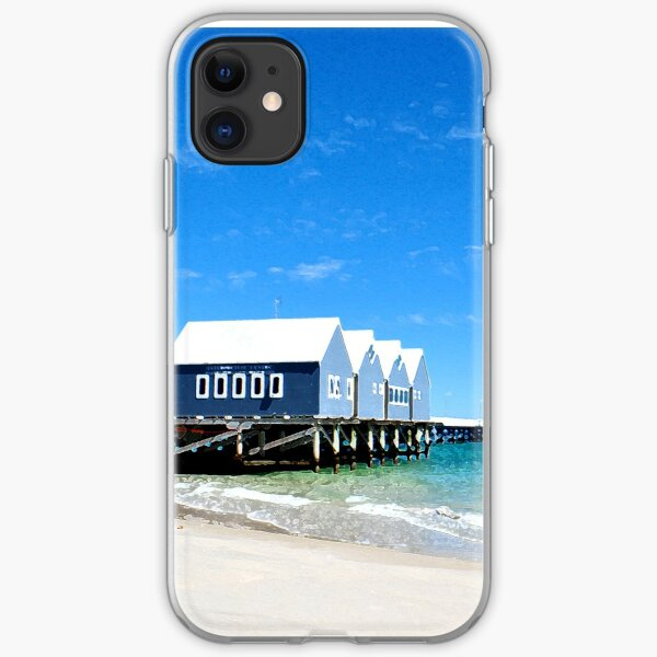 Busselton Jetty Dry Brushed Effect iPhone Soft Case
