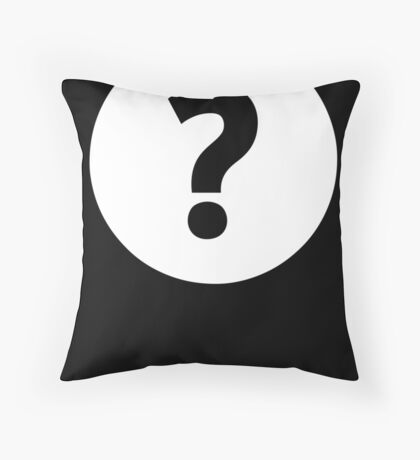 Question Mark - style 4 Throw Pillow
