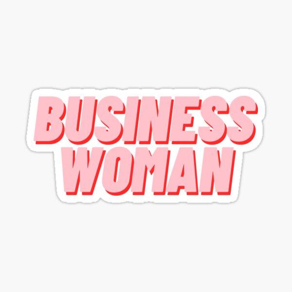 Business Woman Sticker