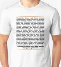 Trainspotting speech Unisex T-Shirt