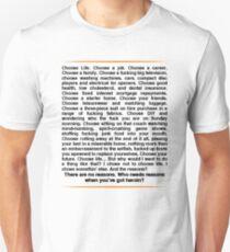 Trainspotting speech Slim Fit T-Shirt
