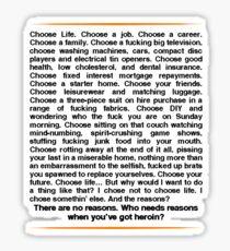 Trainspotting speech Sticker