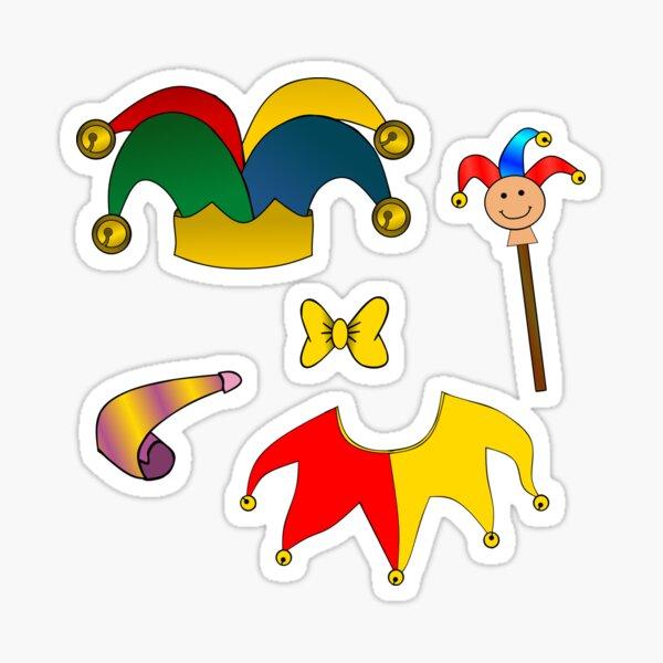 Jester Clown Stickers Sticker