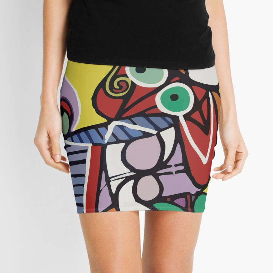 Abstract Art VectorArt Mini Skirt