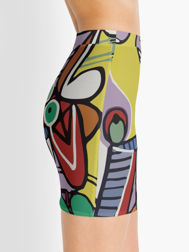 Alternate view of Abstract Art VectorArt Mini Skirt