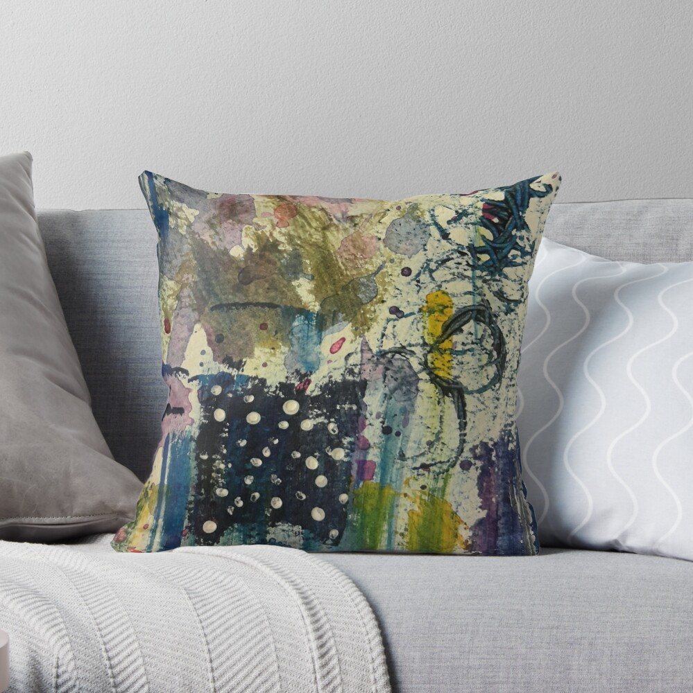 Abstract Fantasy Throw Pillow