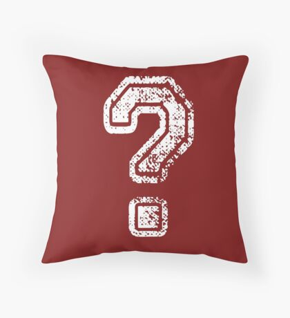 Question Mark - style 5 Throw Pillow
