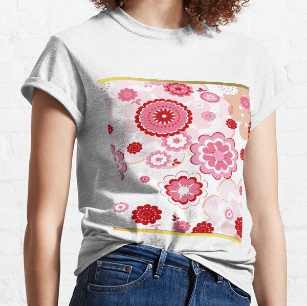 Palevioletred Sakura Flor Classic T-Shirt