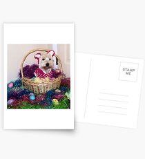 Easter Basket Westie Bunny Postkarten