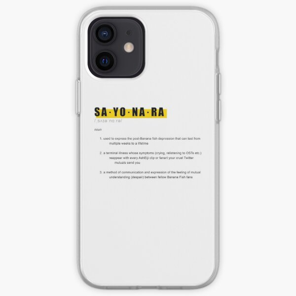 Conception de définition de poisson banane SAYONARA Coque souple iPhone