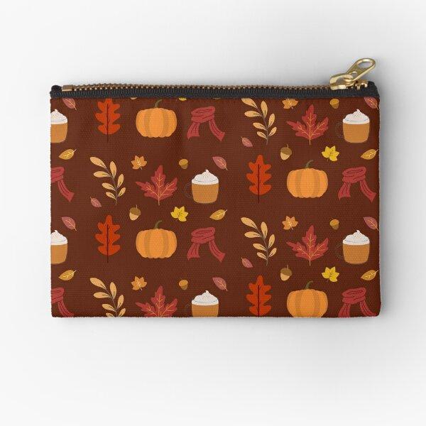 Autumn Fall Season Cosy Pattern Pack Zipper Pouch