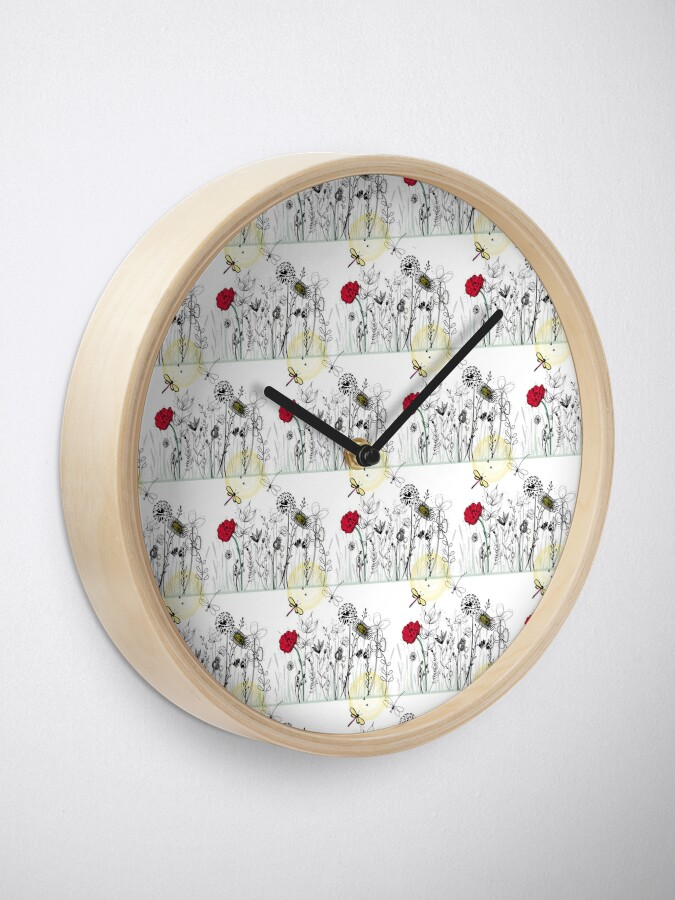 Alternate view of Wild Meadow Clock
