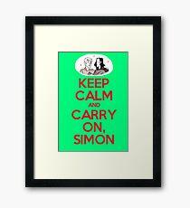 Carry On, Simon Framed Print