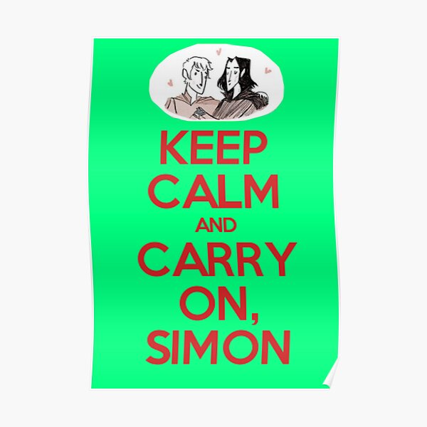 Carry On, Simon Poster