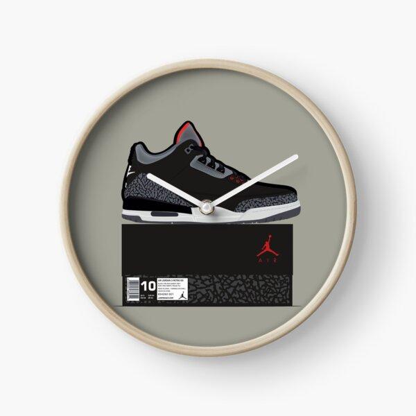 Jordan 3 Black Cement, Box Fresh Clock