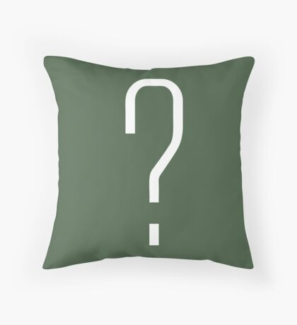 Question Mark - style 6 Throw Pillow