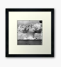 Baker Test atomic explosion Operation Crossroads (July 25 1946) Framed Print