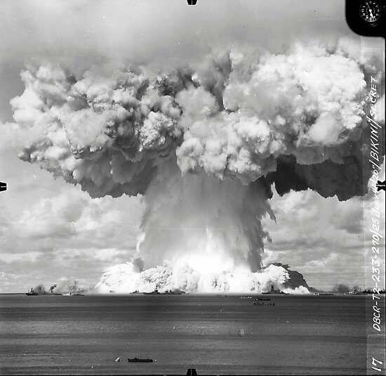 Baker Test atomic explosion Operation Crossroads (July 25 1946) by allhistory