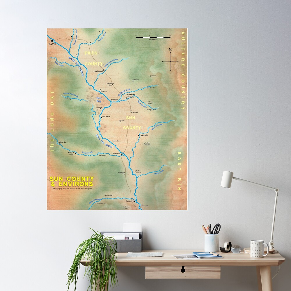 Map of Sun County - Prax Poster