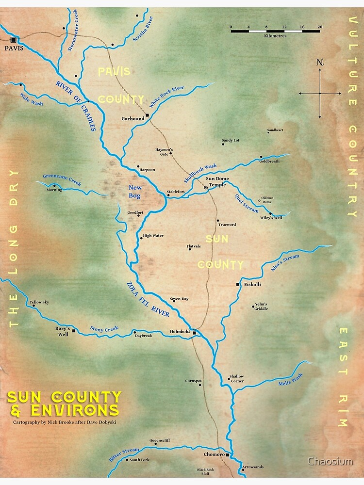 Map of Sun County - Prax by Chaosium