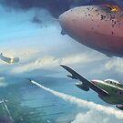 Airship Dogfight by Chris-Garrett