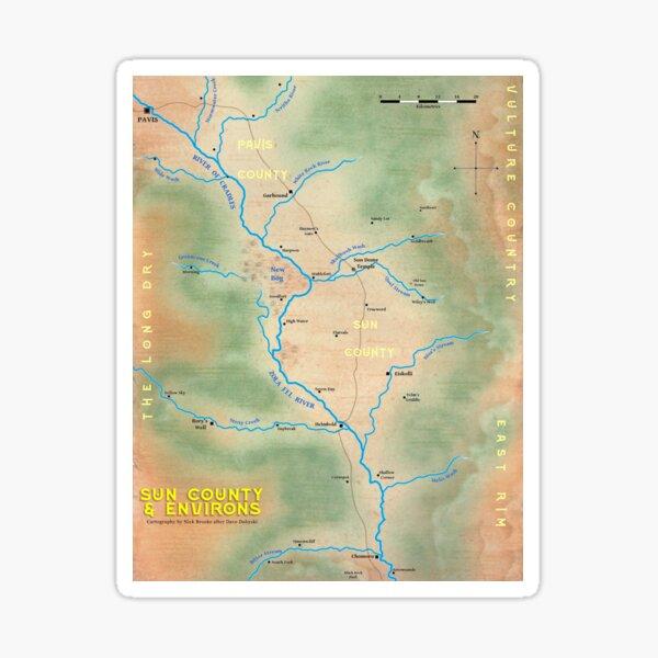 Map of Sun County - Prax Sticker