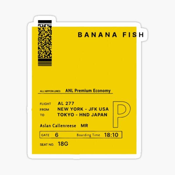 Billet Banana fish - envoyé par Eiji Okumura à Ash Lynx Sticker