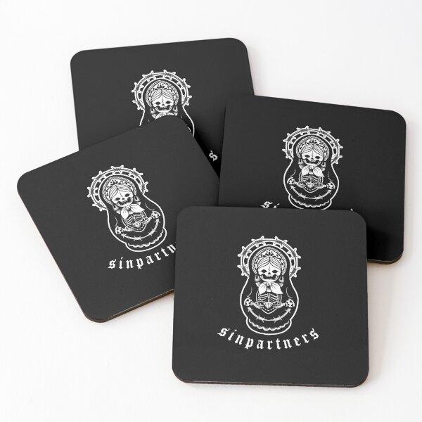 MATRYOSHKA DOLL SKULL Coasters (Set of 4)