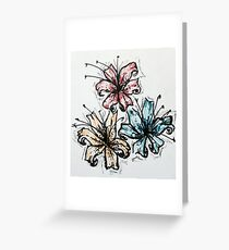 Primary Flowers Greeting Card