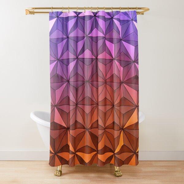 Colorful Mosaic Purple Orange Shower Curtain