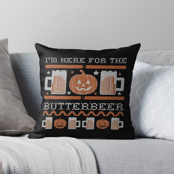 I'm here for the butter beer Throw Pillow