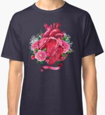Watercolor heart with floral design Classic T-Shirt