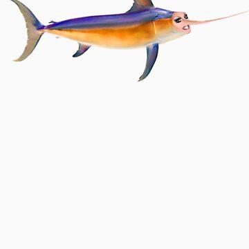 magnolia crawfish - fisherman tee by lilpoundcake666