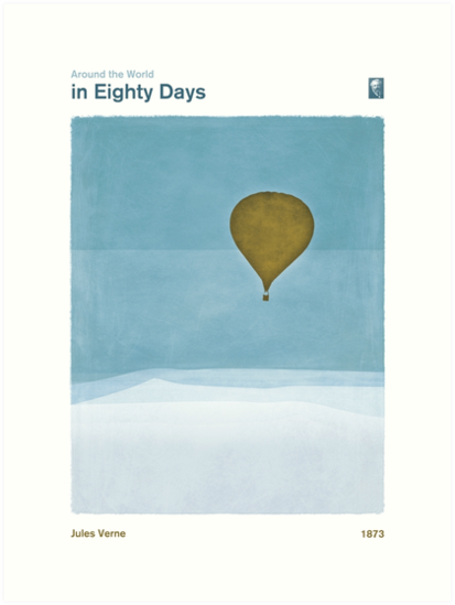 Around the World in Eighty Days - Jules Verne by RedHillPrints