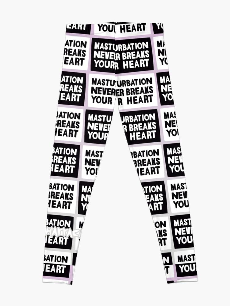 Alternate view of Masturbation never breaks your heart Leggings