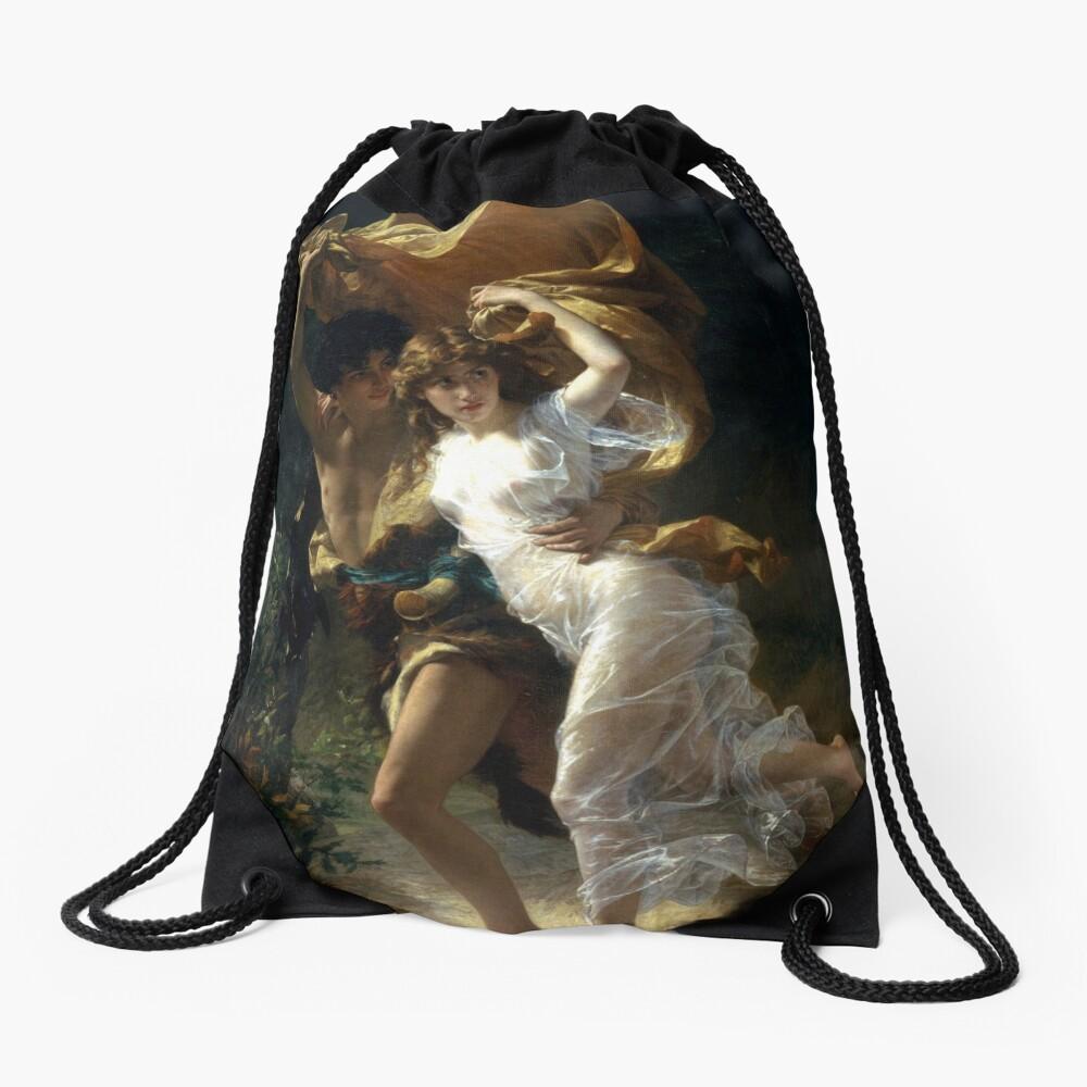 The Storm  (La Tempête) - Pierre Auguste Cot Drawstring Bag