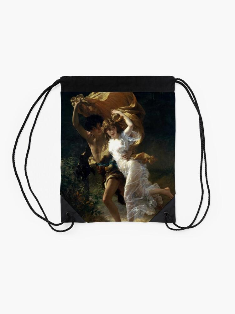 Alternate view of The Storm  (La Tempête) - Pierre Auguste Cot Drawstring Bag