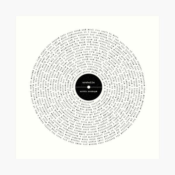 """Arabella"" Lyrics Art Print"