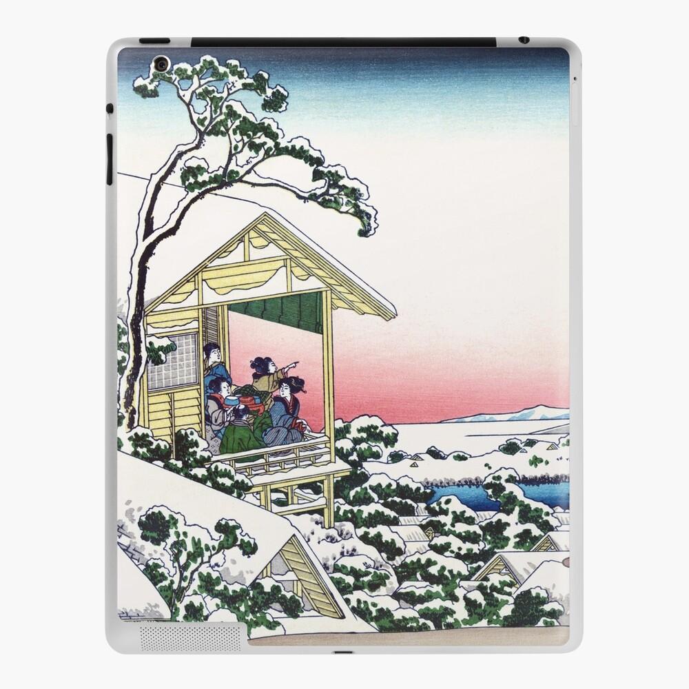 Tea House At Koishikawa The Morning After A Snowfall By Katsushika Hokusai Ipad Case Skin By Takeda Art Redbubble