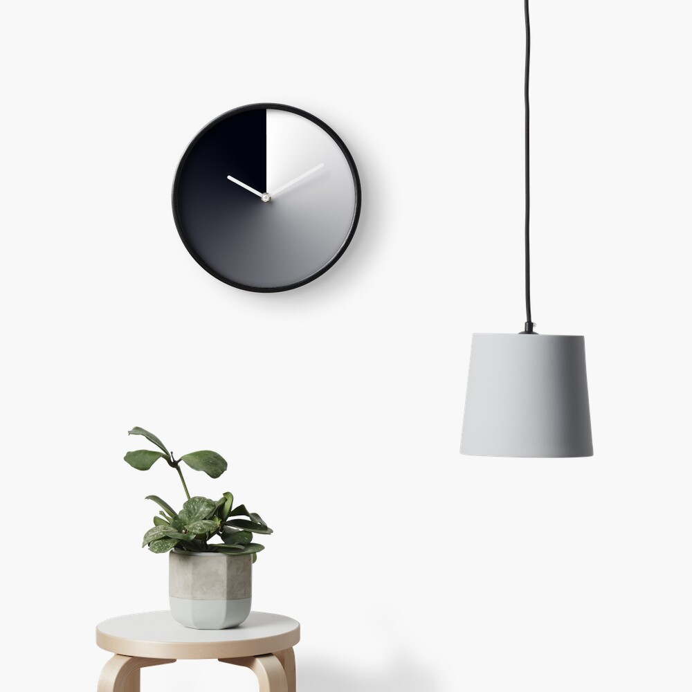 Dusk Till Dawn Dark Gradient Sphere Clock